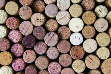 Colored wine corks.