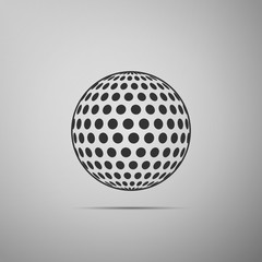 Golf ball flat icon on grey background. Vector Illustration