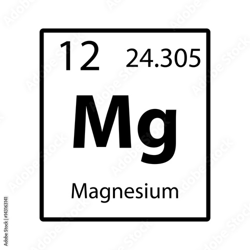 Magnesium periodic table element icon on white background vector magnesium periodic table element icon on white background vector urtaz Images