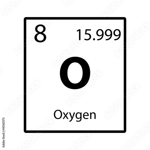Oxygen periodic table element icon on white background vector stock oxygen periodic table element icon on white background vector urtaz Images