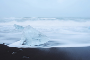 Ice Blocks in Sea