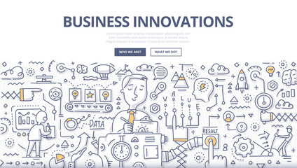 Business Innovations Doodle Concept
