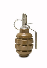 Hand grenade, isolated on white background