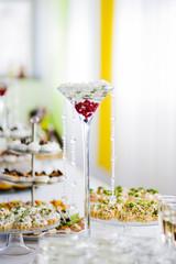 Wedding decor on the table