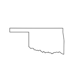 map of the U.S. state of Oklahoma