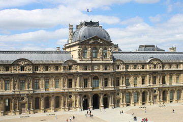 view from the window of the louvre