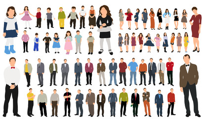 Collection of people vector illustration