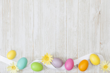Easter Spring Background with Copy Space