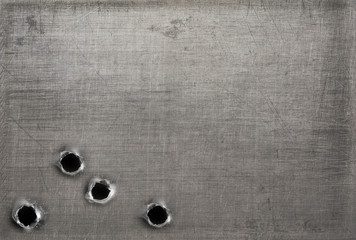 Wall Mural - metal with bullet holes
