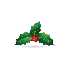Color Icon - Holly leaves