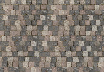 Natural background base of square stones cubes from dark to light evenly folded