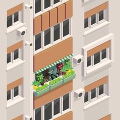 Illustration with windows