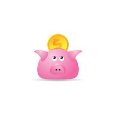Color Icon - Coin piggybank