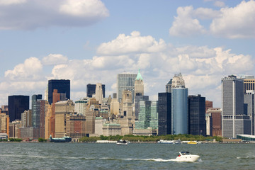 Manhattan. New York City skyline