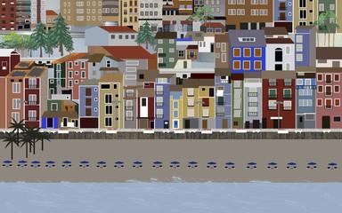 Miasto w Hiszpanii, nad morzem