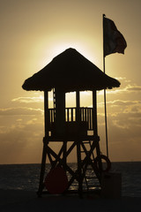 Lifeguard Stand on Maxican Beach
