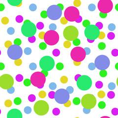 Seamless circles shapes pattern