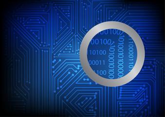 Vector : Binary code in electronic circuit board