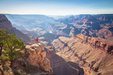 Hiker in Grand Canyon National Park, Arizona, USA