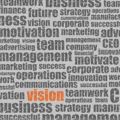 Grungy Business Words - Vision