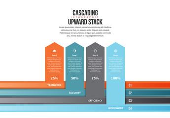 Up Arrow Bar Chart Infographic 2