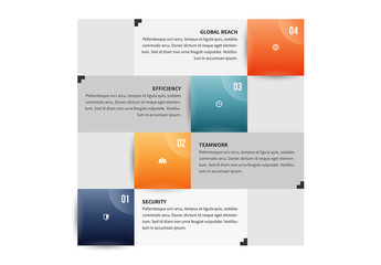 Stacked Grayscale Tiles with Color Accent Infographic 2