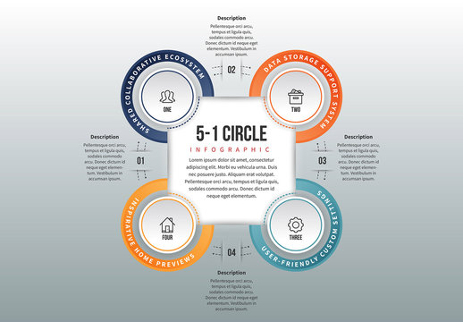 Linked Circle Cluster Infographic 2