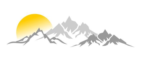 SIlhouette Berge Sonne