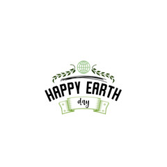 Badge as part of the design - Earth day. Sticker, stamp, logo - hand made.