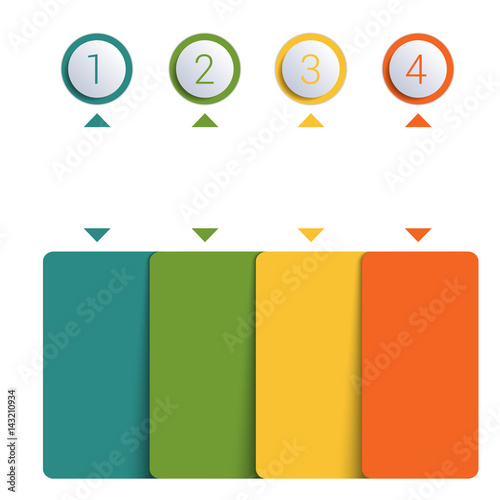 colorful buttons numbered for 4 positions fotolia com の ストック