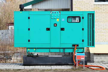 Turquoise Auxiliary Diesel Eenerator for Emergency Electric Power
