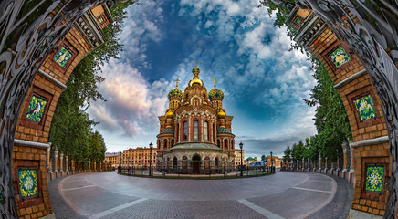 Savior on Spilled Blood. Orthodox church. St. Petersburg. The museum.