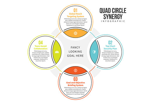 Linked Circle Cluster Infographic 3