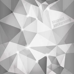 Abstract polygonal background in shades of gray