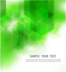 Abstract Geometrical Green Background, Vector Illustration