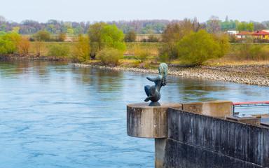 Meerjungfrau an der Donau