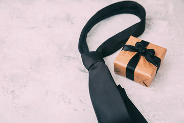 Fathers day composition with tie