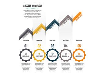 Upward Triangle Infographic 2