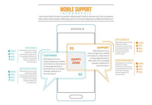 Line Art Smartphone Infographic 4