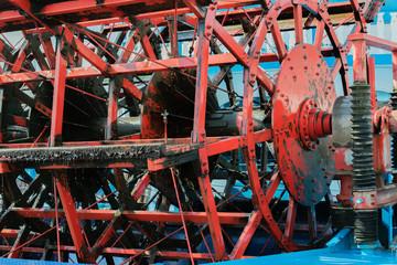 Heckraddampfer Passagierschiff im Hamburgerhafen