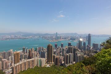 Hong Kong Ausblick Stadt von Victoria Peak