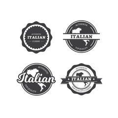 Italian Restaurant Cuisine Labels