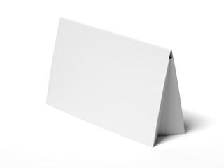 White gray table ten. 3d rendering