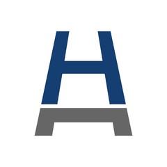 h logo vector. stair symbol.