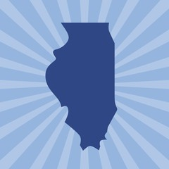 illinois map. logo vector.