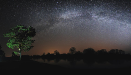 Real Milky Way in sky