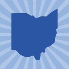 ohio map. logo vector.
