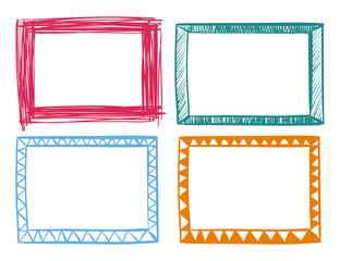 Four frames in different colors