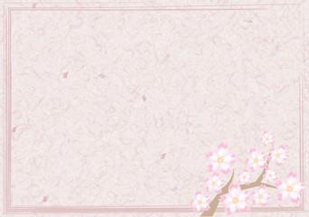 桜の木・和紙フレームB