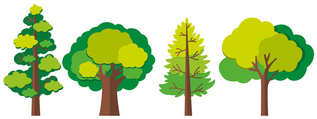Different designs of trees